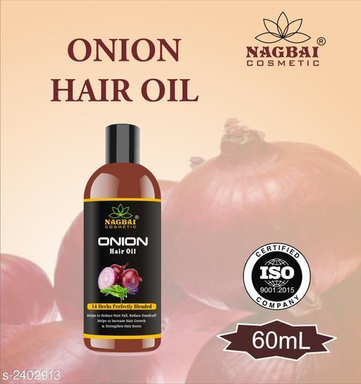 Nagbai Onion Herbal Hair Oil 60 ML (Pack of 1)