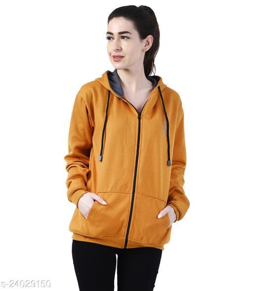 Chanda Khuba Women's Sweatshirt Full Sleeve Kangaroo Pocket Pullover hoodies With Zip - CKHD-G-04