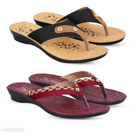 Stylish Women's Multicolor Slippers