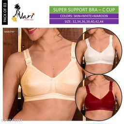 3797 Super Support Cotton Bra Color C-Cup Pack of 03