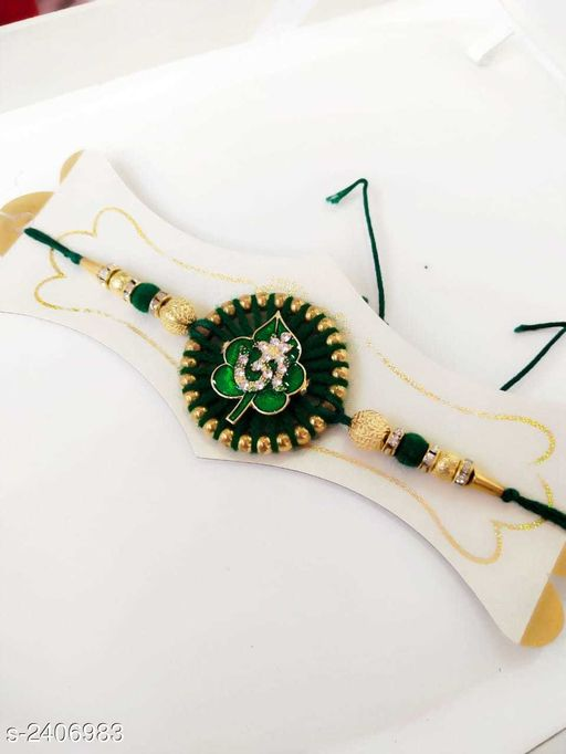 Rakhi Glitzy Stone Work Handmade Rakhi  *Material* Thread  *Description* It Has 1 Piece Of Rakhi  *Work* Stone Work  *Sizes Available* Free Size   Catalog Rating: ★4.3 (8) Supplier Rating: ★4 (35157) SKU: WA0008 Shipping charges: Rs1 (Non-refundable) Pkt. Weight Range: 30  Catalog Name: Glitzy Stone Work Handmade Rakhis Vol 3 - Sawariya collection Alw Code: 731-2406983--722
