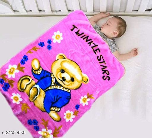 Anaya Creation Newborn Supersoft Double Layered Fluffy Mink Baby Blanket for Babies