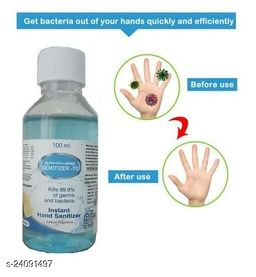 Instant Hand Sanitizer Kill 99.9% of Germs And Bacteris Lemon Fragrance Anti Bacterial Hand Senitizer 200ml Pack of 1