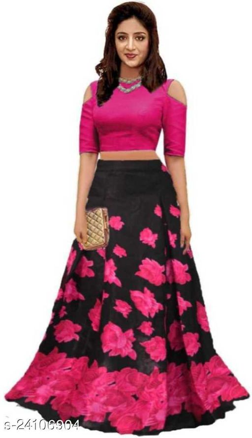 96nu fashion WOMEN'S BOLLYWOOD TYPE SOLID LEHENGA CHOLI