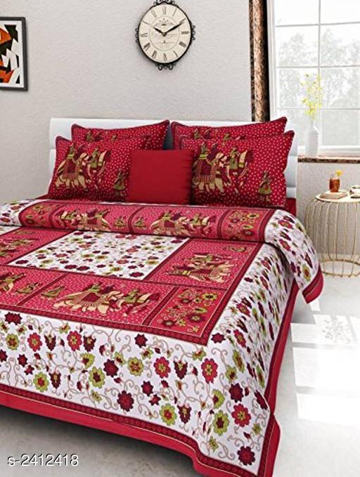 Comfortable Cotton Double Printed Bedsheet