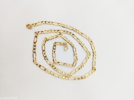 Hanaa One Gram Micro Plated Gold Chain 24 Inches Length
