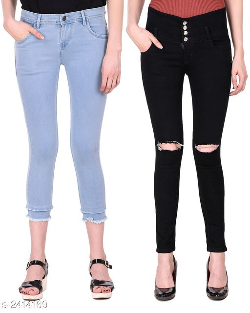 Jeans Fabulous Women's Denim Jeans (Pack Of 2) Fabric: Denim Waist Size: 28 in 30 in 32 in 34 in Length: Jean 1 - Up To 37 in Jean 2 - Up To 39 in Type: Stitched Description: It Has 2 Pieces Of Women's Jeans Pattern: Solid Country of Origin: India Sizes Available: 28, 30, 32, 34 *Proof of Safe Delivery! Click to know on Safety Standards of Delivery Partners- https://ltl.sh/y_nZrAV3  Catalog Rating: ★4.1 (36)  Catalog Name: Eva Fabulous Women's Denim Jeans Combo Vol 2 CatalogID_323314 C79-SC1032 Code: 117-2414169-