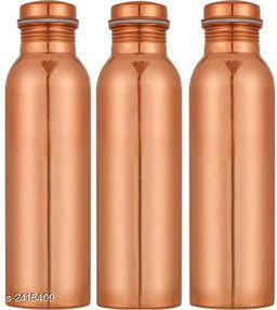 Useful Pure Copper Water Bottles (Pack Of 3)