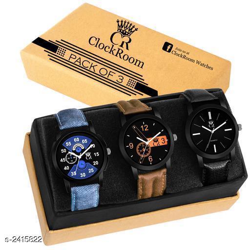 Fashionable Trendy Men's Analog Watches Combo