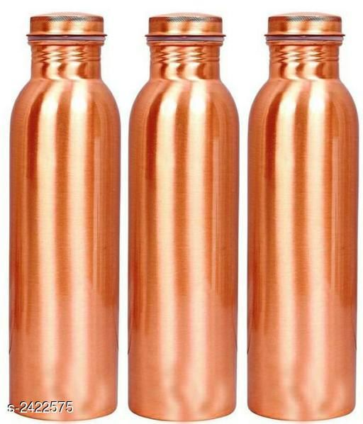Useful Pure Copper Bottles(Pack Of 3 )