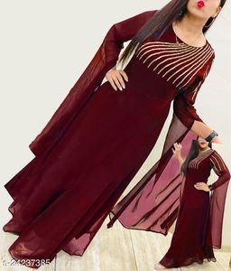 new launch designer gown Embroidery work