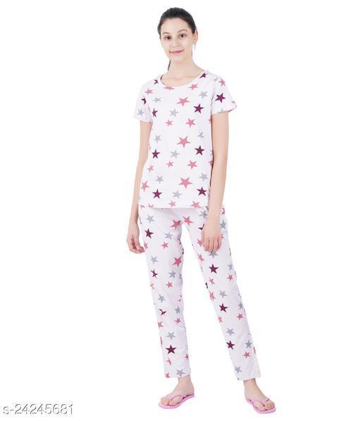 Sevnix Women Printed Night Suit Set
