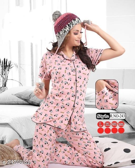 A4U Girls & Women Premium Kollar Night Suits