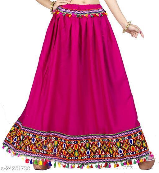 DIAMO Heavy Lace Border Work Ethnic Long Skirt