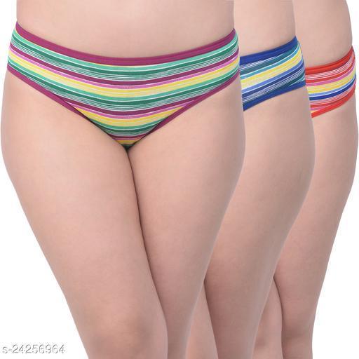 Women Pack of 3 Hipster Panties