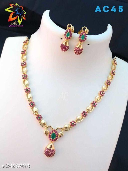 Allure Bejeweled Women  jewellery set