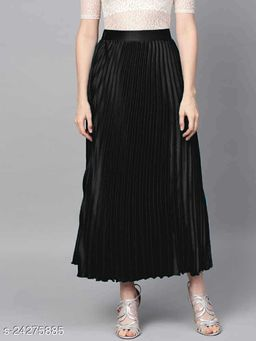 Fashionable Women Ethnic Satin Skirts