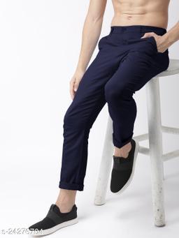 FREAKS navy casual pant for men