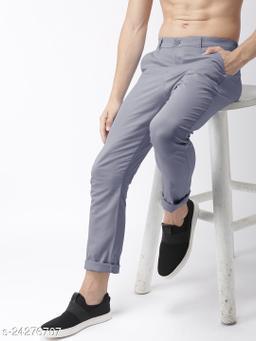 FREAKS grey casual pant for men