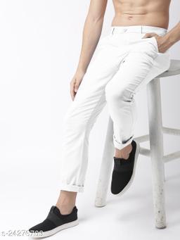 FREAKS white casual pant for men