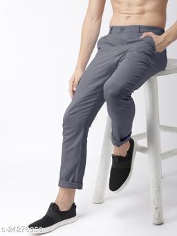 FREAKS dark grey casual pant for men