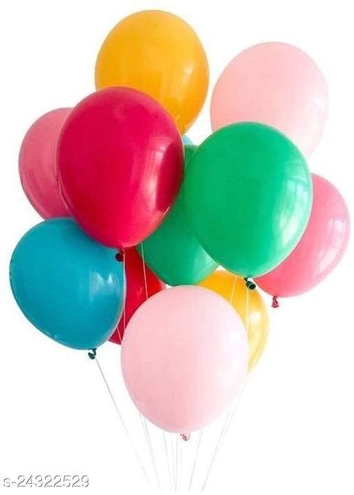 HD Metallic Balloons for Birthday / Anniversary Party Decoration Multicolor (Pack of 50)