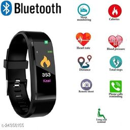 ID115 Smart Fitness Band Heart Rate Monitor Bluetooth Smartband