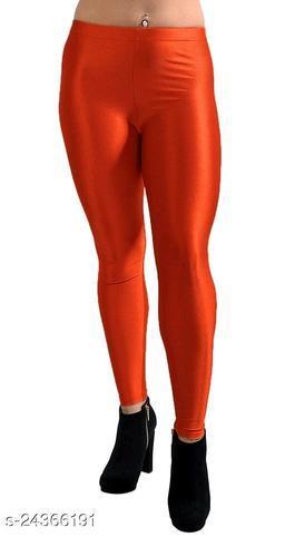 RED SATIN LEGGINGS FOR WOMEN