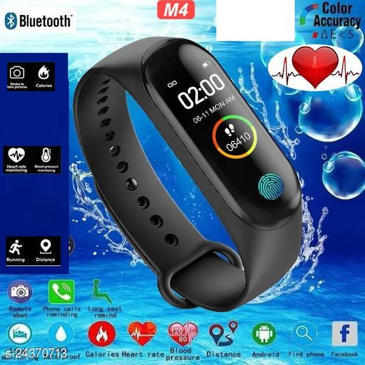 M4 Smart Fitness Band for Men and Women