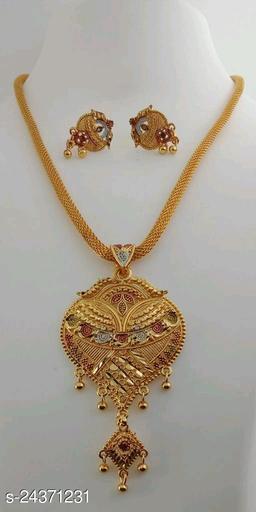 Women's Brass Gold Plated Jewellery Set