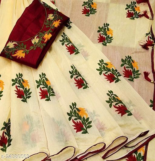 Pretty Chanderi Cotton Sarees