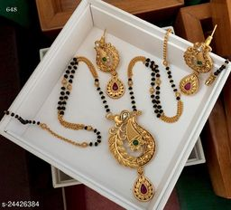 Iconic Designer Mangalsutra with earrings for Women
