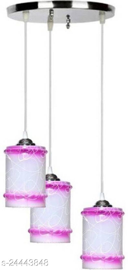 Afast Pandans Hanging Ceiling Light Of Stylish Colorful & Decorative Three Glass Shade Lamp (Set Of Two)