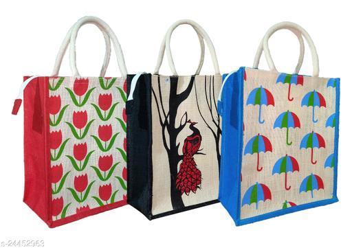 Classy Women's Multicolor Jute Handbag