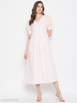 BUTTERFLY NECK DETAILING DRESS
