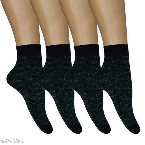 Beautiful Ankle Length Cotton Women's Sock