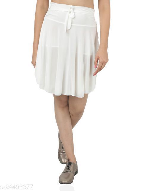 Grishma Garment White Poly Crepe