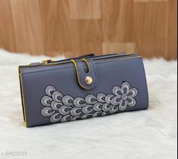 Beautiful Women's Grey PU Wallet