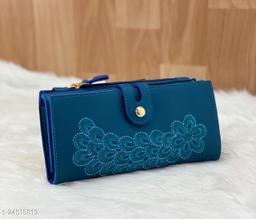 Attractive Women's Green PU Wallet