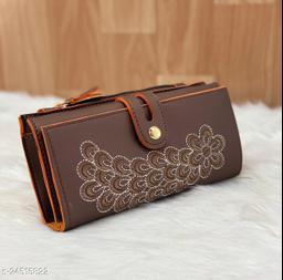 Unique Women's Brown Wallet