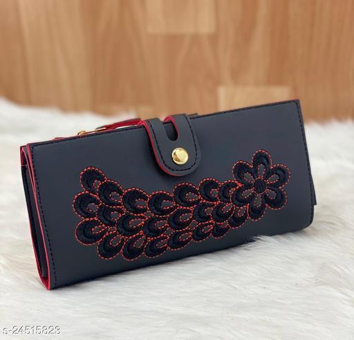 Beautiful Women's Black Wallet