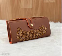 Trendy Women's Rust PU Wallet