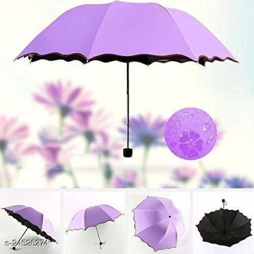 Triple Folding Mini Blossom Magic Compact Umbrella for Girls and Women (Multi Color)