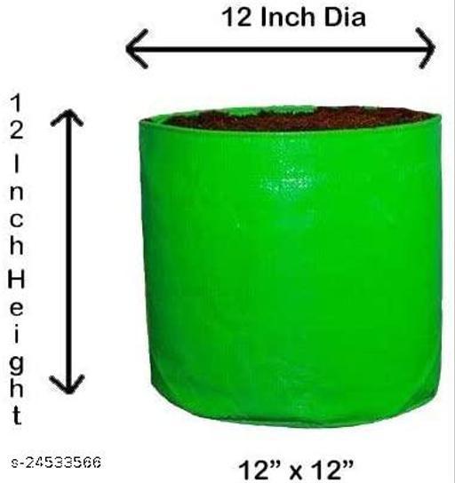 """Outdoor Terrace Gardening Grow Bag 12"""" X 12"""" inches (Set of 2) Modern Indoor Plants"""