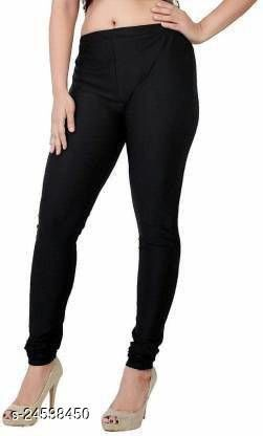 BLACK SATIN LEGGINGS FOR WOMEN