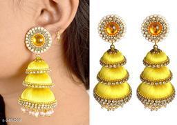 Elegant Silk Thread Earring