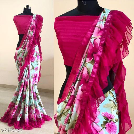 Fancy Silk Crepe Women's Saree