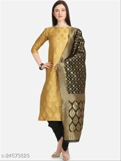 women jequard Banarasi silk  Salwar Suits & Dress Materials