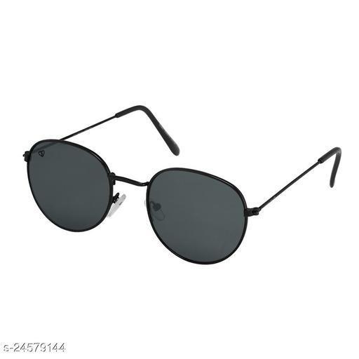 Walrus Royal Series Black Oval Men Sunglass
