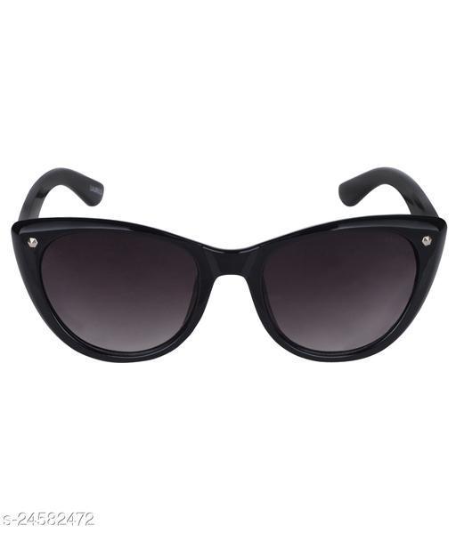 Laurels Nina II Series Black Cateye Women Sunglass